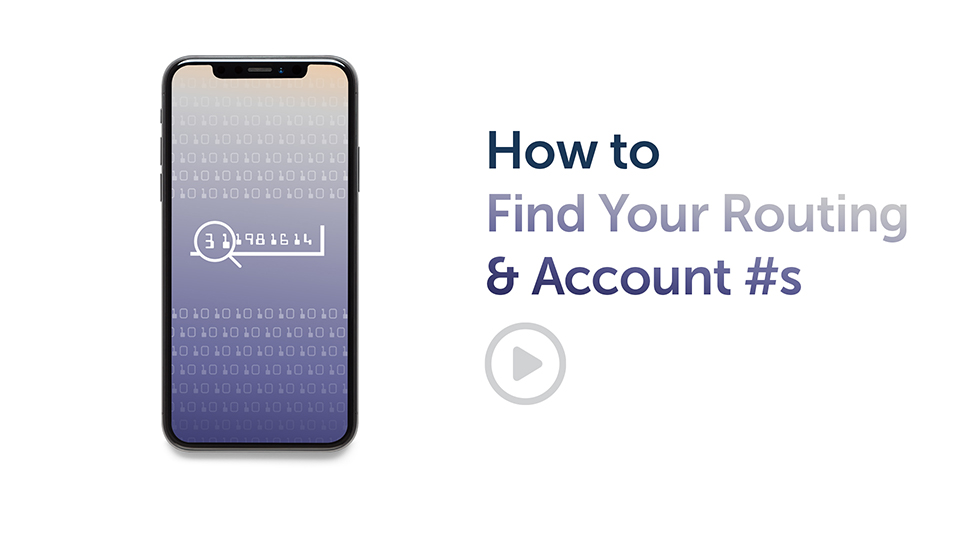Banking Tip: How to Find Your Routing & Account #s